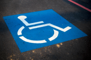 Image representing the service provider category: disabled badge on road